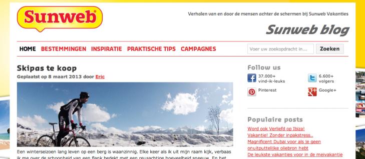 Sunweb blog