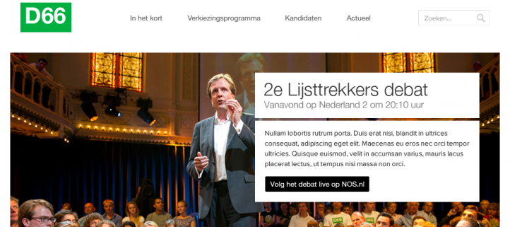 D66 campagne website